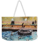 Sunset Scenery By Amsterdam Canal Weekender Tote Bag