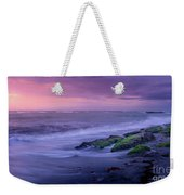 Sunset Surf On The Gulf Of Mexico, Venice, Florida Weekender Tote Bag