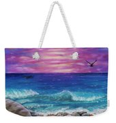Sunset Wave Weekender Tote Bag