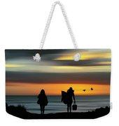 Surfer Girls Silhouette Weekender Tote Bag