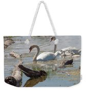 Swan Family Outting  Weekender Tote Bag