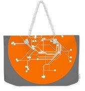 Sydney Orange Subway Map Weekender Tote Bag
