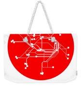 Sydney Red Subway Map Weekender Tote Bag