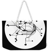 Sydney White Subway Map Weekender Tote Bag