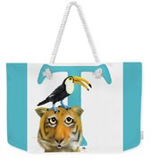 T Is For Two Weekender Tote Bag
