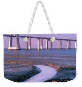 Tagus River And Vasco Da Gama Bridge Weekender Tote Bag