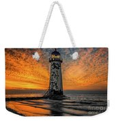 Talacre Beach Lighthouse Sunset Weekender Tote Bag