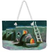 Taos At Night Weekender Tote Bag
