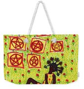 Tarot Of The Younger Self Eight Of Pentacles Weekender Tote Bag