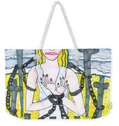 Tarot Of The Younger Self Eight Of Swords Weekender Tote Bag