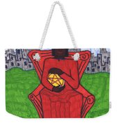 Tarot Of The Younger Self Four Of Pentacles Weekender Tote Bag