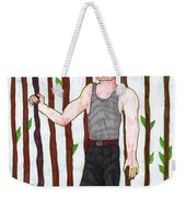 Tarot Of The Younger Self Nine Of Wands Weekender Tote Bag