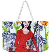 Tarot Of The Younger Self Queen Of Wands Weekender Tote Bag