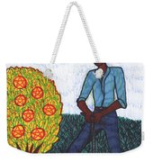 Tarot Of The Younger Self Seven Of Pentacles Weekender Tote Bag