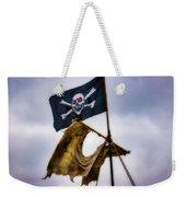 Tattered Sail And Pirate Flag Weekender Tote Bag