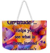 Text Art Gratitude Weekender Tote Bag