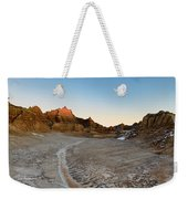 The Badlands And A Sunrise Weekender Tote Bag
