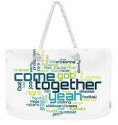 The Beatles - Come Together Lyrical Cloud Weekender Tote Bag