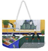 The Cat Cafe Weekender Tote Bag by Karen Zuk Rosenblatt