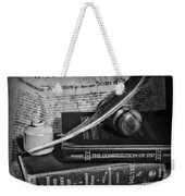 The Constitutional Lawyer In Black And White Weekender Tote Bag