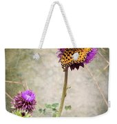 The Dream Of A Butterfly Weekender Tote Bag by Mary Lee Dereske