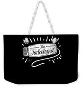 The Fadeologist Hairstylist Hairdresser Scissors Weekender Tote Bag