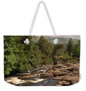 The Falls Of Dochart And Bridge At Killin In Scottish Highlands Weekender Tote Bag