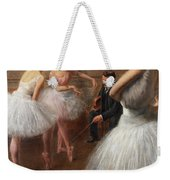 The First Pose, The Ballet Lesson Weekender Tote Bag