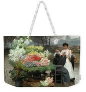 The Flower Vendor On The Quays In Paris Weekender Tote Bag