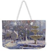 The Frozen Fountain Weekender Tote Bag