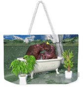 The Hippo Tub Weekender Tote Bag