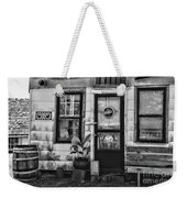 The Old Country Store Black And White Weekender Tote Bag