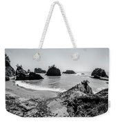 The Oregon Coast In Black And White Weekender Tote Bag by Margaret Pitcher