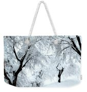 The Pure White Of Snow Weekender Tote Bag