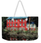 The Red House Along The Autumn Canal Weekender Tote Bag