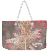 The Red Of Winter Weekender Tote Bag