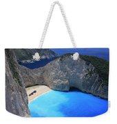 The Shipwreck Beach Zakynthos Greece Weekender Tote Bag