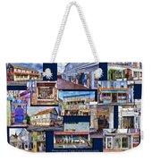 The Shops Of Provincetown Cape Cod Massachusetts Collage Pa Weekender Tote Bag