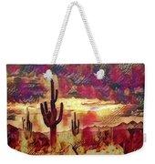The Sonoran Saguaro  Weekender Tote Bag