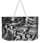 The Telegraph And Glass Insulators Black And White Weekender Tote Bag