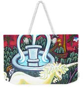 The Unicorn And Garden Weekender Tote Bag