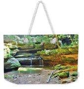 The Waterfall In Old Man's Cave Hocking Hills Ohio Weekender Tote Bag