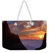 The Window At Sunset, Big Bend National Weekender Tote Bag