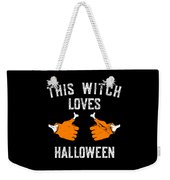 This Witch Loves Halloween Weekender Tote Bag