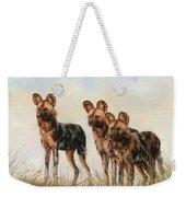 Three African Wild Dogs Weekender Tote Bag