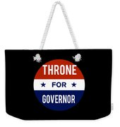Throne For Governor 2018 Weekender Tote Bag