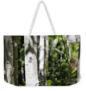 Through The Aspen Forest Weekender Tote Bag