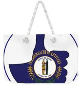 Thumbs Up Kentucky Weekender Tote Bag