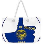 Thumbs Up Oregon Weekender Tote Bag