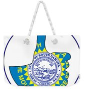 Thumbs Up South Dakota Weekender Tote Bag